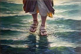 caminando sobre el agua